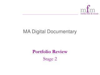 MA Digital Documentary