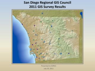 San Diego Regional GIS Council 2011 GIS Survey Results