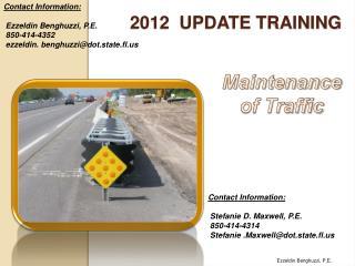 2012  Update training