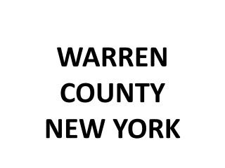 WARREN  COUNTY NEW YORK