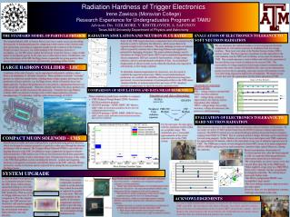 Radiation  Hardness  of  Trigger Electronics Irene Zawisza (Moravian College) Research Experience for Undergraduates Pr