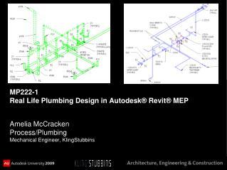 MP222-1  Real Life Plumbing Design in Autodesk® Revit® MEP