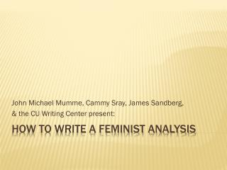 How to write a feminist analysis