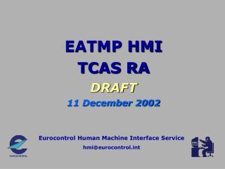 eatmp hmi tcas ra draft
