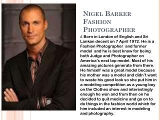 Nigel Barker Fashion Photographer