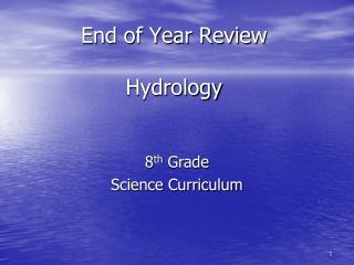 End of Year Review Hydrology