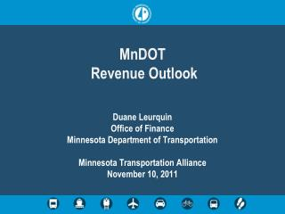 MnDOT   Revenue Outlook