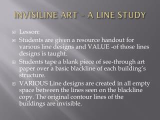 INVISILINE ART – A LINE STUDY