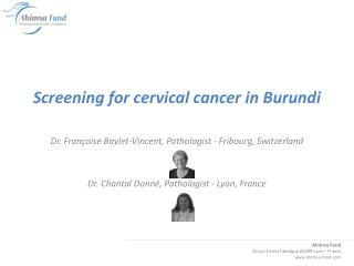 Screening for cervical cancer in Burundi