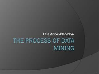 The Process of Data Mining