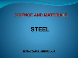 SCIENCE AND MATERIALS