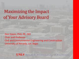 Maximizing the Impact  of  Your Advisory Board