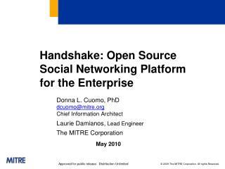 Handshake: Open Source Social Networking Platform for the Enterprise