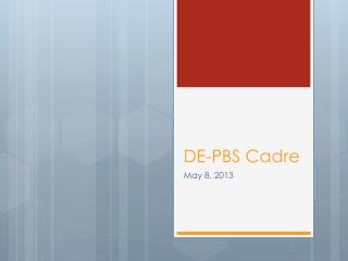 DE-PBS  Cadre