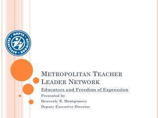 Metropolitan Teacher Leader Network