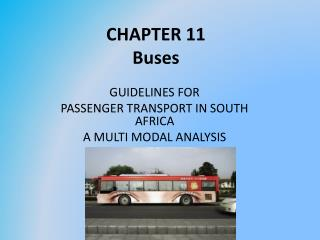 CHAPTER 11 Buses