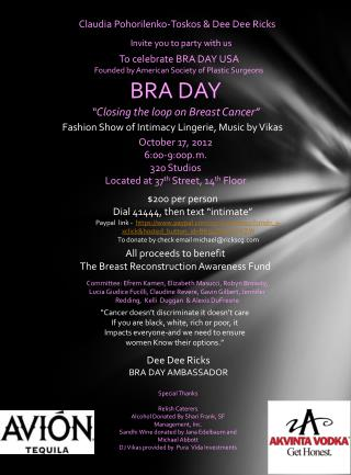 "BRA DAY ""Closing the loop on Breast Cancer"""