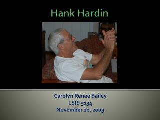 Hank Hardin