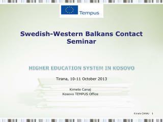 Swedish-Western Balkans Contact Seminar