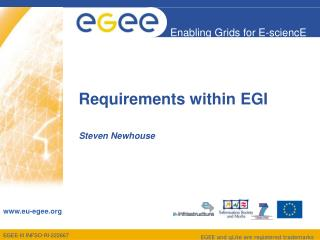 Requirements within EGI
