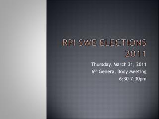 RPI SWE Elections 2011