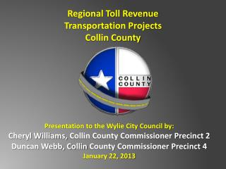 Regional Toll Revenue Transportation Projects Collin County
