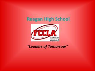 Reagan High School