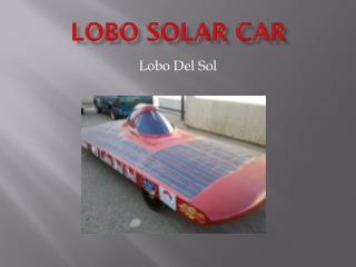 LOBO Solar Car