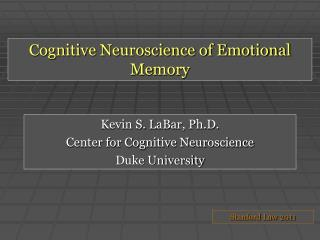 Cognitive Neuroscience of Emotional Memory