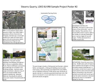 Stearns Quarry, LDEO & KRB Sample Project Poster #2