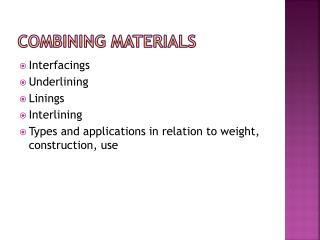 Combining materials