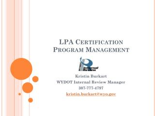 LPA Certification Program Management