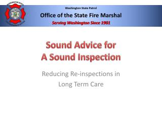 Sound  Advice  for  A Sound Inspection