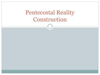 Pentecostal Reality Construction