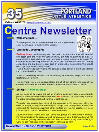 C entre Newsletter