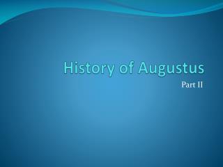 History of Augustus