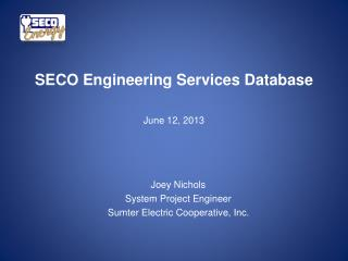 SECO Engineering Services Database June 12, 2013