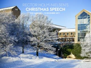 RECTOR HOLM-NIELSEN'S  CHRISTMAS SPEECH