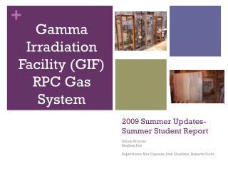 2009 Summer Updates- Summer Student Report