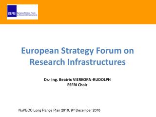 European Strategy Forum on Research Infrastructures