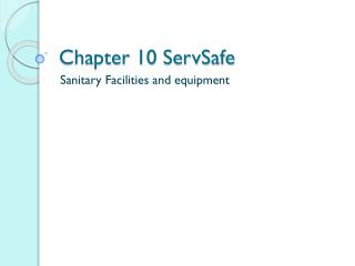 Chapter 10  ServSafe