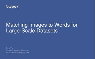 Matching Images to Words for Large-Scale Datasets