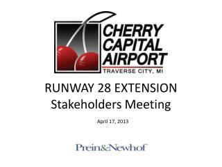 RUNWAY  28 EXTENSION Stakeholders Meeting