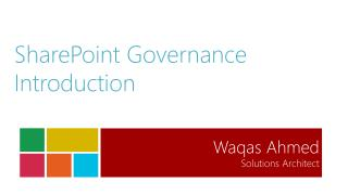 SharePoint  Governance Introduction