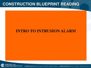 CONSTRUCTION BLUEPRINT READING
