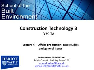 Construction Technology 3  D39 TA