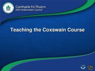 Teaching the Coxswain Course