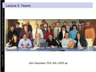 Lecture 3:  Teams