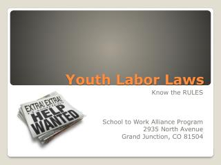 Youth Labor Laws