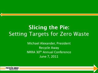 Slicing the Pie:  Setting Targets for Zero Waste